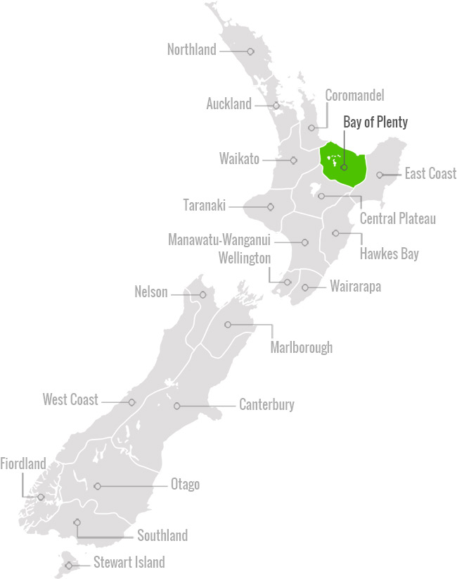 Regional Map of Bay of Plenty