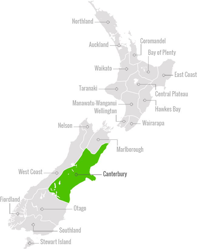 Canterbury NZ Map