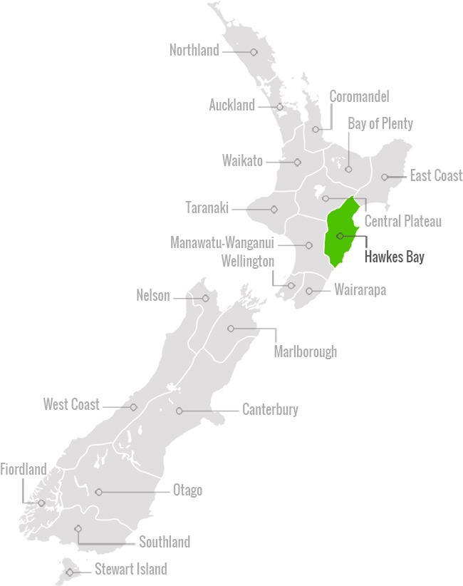 Region Map Hawkes Bay