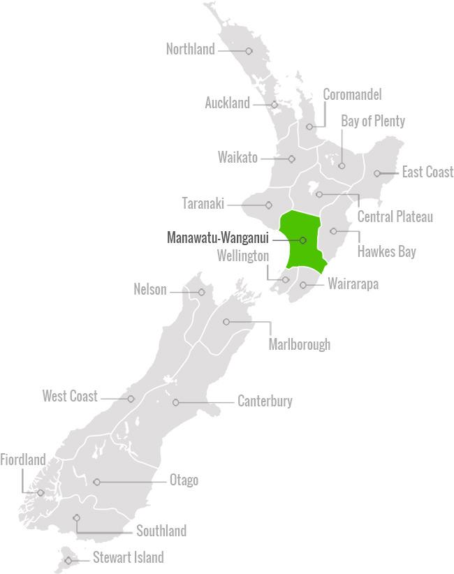 Map of Manawatu Wanganui